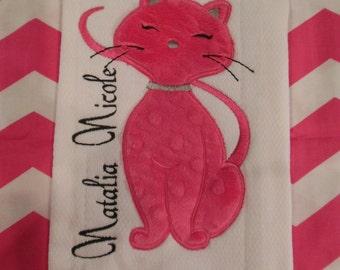 Kitty Kitty Burp Cloth