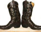 SALE! Vintage Men's Tony Lama Black Label Boots Size 11.5 B