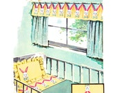 1950s Craft Pattern, McCall's 2068, Bunny Applique Baby Room Crib Spread, Sheet, Pillowcase, Valance, 1956 Vintage Sewing Pattern Uncut
