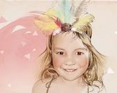 Custom Illustrated Child Portrait  Digital Format