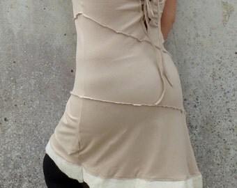 Bridesmaid dress ~ Short lycra dress with felt trim ~ Fairytale wedding theme ~ Pixie dress