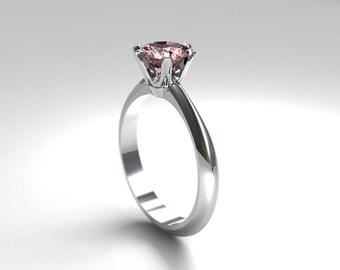 3 21ct Green Tourmaline Engagement Ring By Torkkelijewellery