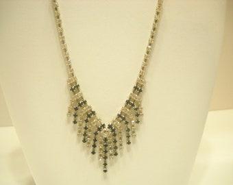 Vintage Rhinestone Choker Necklace (3202)
