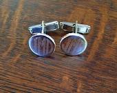Sterling Silver Cufflinks - Monogram Round Mens Cufflinks Personalized