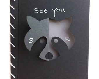 See You Soon Raccoon Card