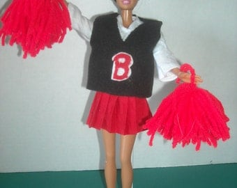 "Barbie, 11 1/2"" Doll Cheerleader Outfit and Accessories"