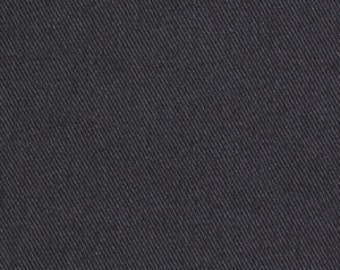 Charcoal Grey Cotton Twill Upholstery Fabric - Solid Grey Curtains and Roman Shades - Dark Grey Kitchen Chair Fabric - Solid Grey Pillows