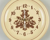 Vintage Pfaltzgraff Village Pattern Clock Plate