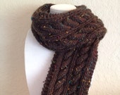 Chunky Brown Scarf for men or women.
