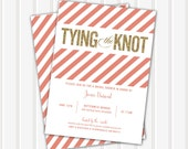 Gold Glitter Tying the Knot Shower  Invite | 5x7 | Double Sided