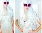 80s voodoo Silk De Oscar beaded dress