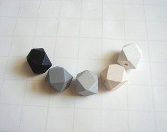 Geometric Mix Wood Beads,Do it Yourself Geometric necklace