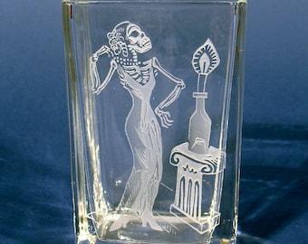 Etched Vase/Candleholder