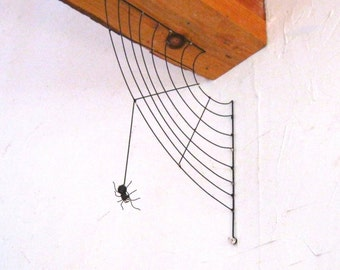 Spider Web and Spider.  Metalwork