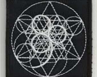 Sacred geometry 7 - embroidered patch, BUY3 GET4, 3,2 X 3,2 INCH