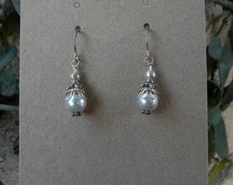 Despoine's Silver Pearl Earrings