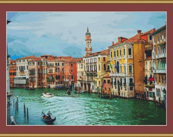 Venice, Italy Cross Stitch Pattern
