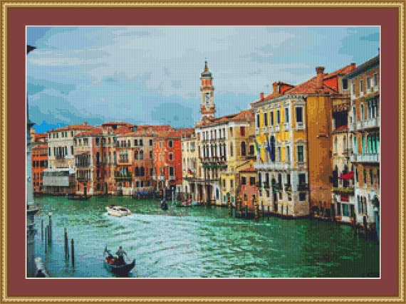 Venice, Italy Cross Stitch Pattern /Digital PDF Files /Instant downloadable