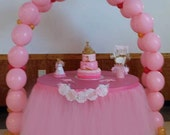 Custom Tutu Table Skirt, Candy Buffet, baby shower, bridal shower