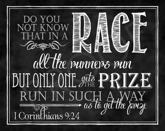 Scripture Art - I Corinthians 9:24