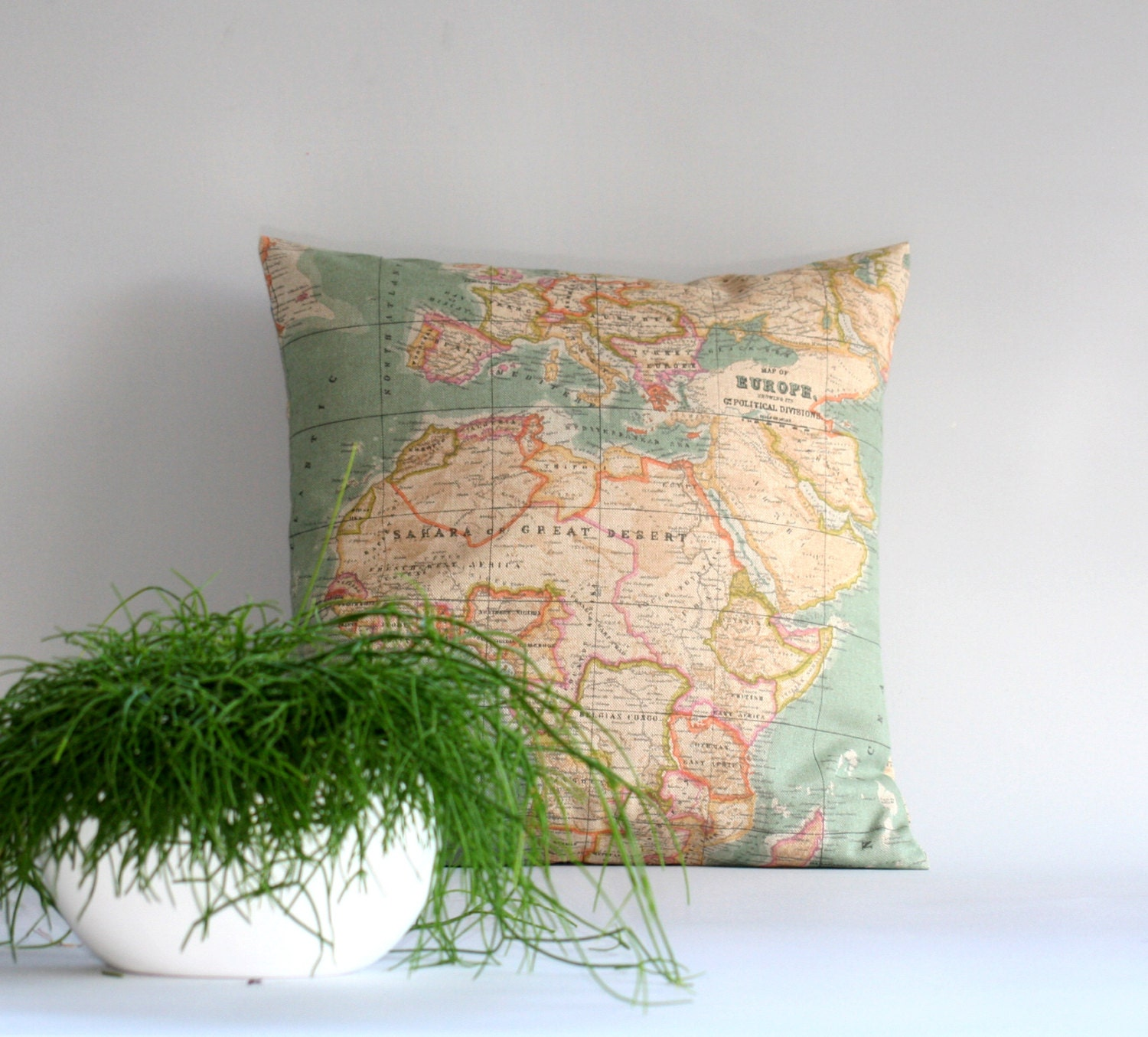 Throw Pillows With World Map : World Map pillow cover Throw pillow cover Cushion cover