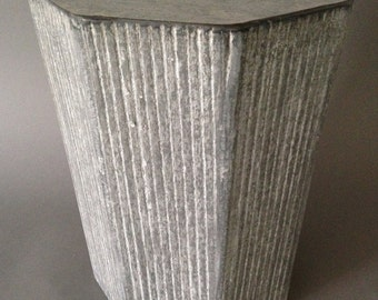 "Tapered Octagonal  ""Cerused"" Concrete Stool"