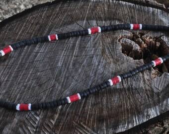 Black Coco with Red Surfer Necklace