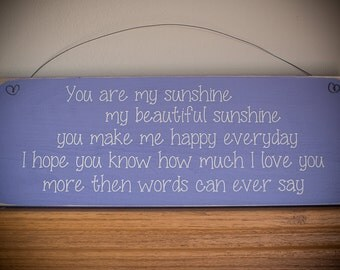 Lavender Children's Sign- You are My Sunshine