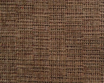 "Upholstery Textured  Fabric 2 pieces 21"" x 36"" and 24"" x 32"" Brown"