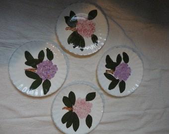 Vintage Hydrangea Violet Apple Blossom Fondeville New York Plates 7 Decorative Plates