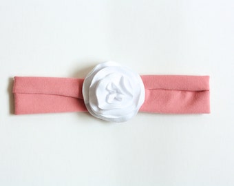 Jersey Knit Flower Headband - Single Flower - Newborn to Adult Headband