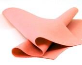 "100 Percent Wool Felt Sheet in Color PAPAYA - 18"" X 18"" Wool Felt Sheet - Merino Wool Felt"