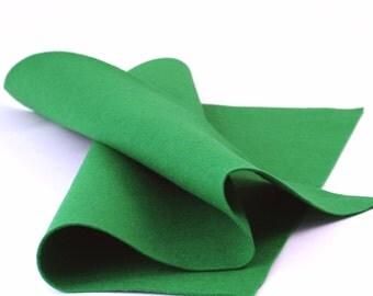 "100 Percent Wool Felt Sheet in Color Green - 18"" X 18"" Wool Felt Sheet - Merino Wool Felt - Craft Wool Felt"