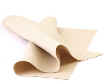"""100% Wool Felt Sheet in Color BEIGE SKIN - 18"""" X 18"""" Wool Felt Sheet - Merino Wool Felt - Craft Felt"""