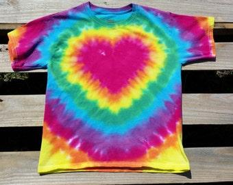 Toddler Rainbow Heart Tie Dye Shirt, 2T 3T 4T  Toddler Girl Tie Dye, Hippie Kids, Girls Shirt