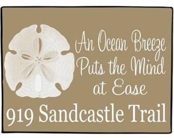 Personalized Doormat Coastal Door Mat Sand Dollar Floor Rug Nautical Welcome Mat Boat Decor
