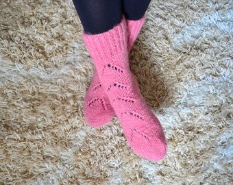Women's Hand knit Wool Socks very THICK and warm