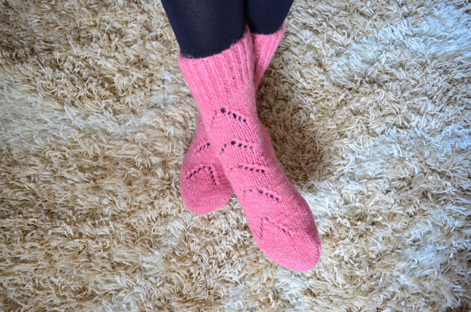 Womens Hand knit Wool Socks very THICK and warm by irinabelyaeva