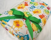"""Padded Baby Play Mat Pad Floor Blanket Monkeys Tummy Time Newborn Infant Gift Baby Shower Nap Mat Personalize Custom 35"""" x 35"""" or 40"""" x 35"""""""