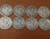 1917-1920 Rare Silver Walking Liberty half dollars - variations of 8 in a package (set)