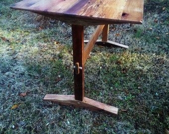 Shaker style trestle table