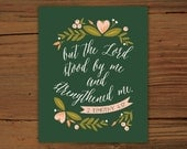 2 Timothy 4:17 Print