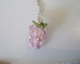Grape Necklace - Pink Grape Necklace -Grape Necklace -Grape - Grape Jewelry