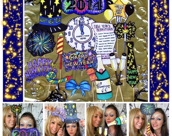 Happy New Year Photo Booth Props perfect to ring in the New Year in style and make your celebration extra special