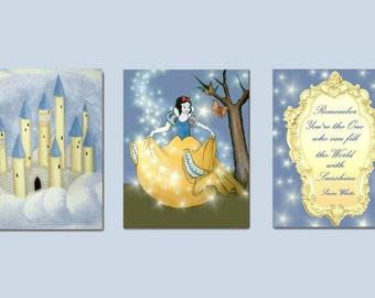 Snow White Nursery wall art, Nursery Decor, Princess Wall Art, Nursery Prints, Kids Art, Princess Decor, Girls room Decor, Baby Girl Nursery