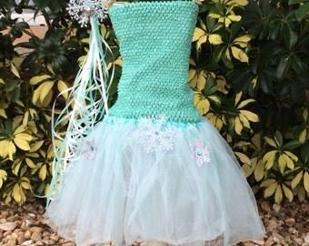 Elsa Costume, Elsa Tutu, Snowflake Tutu, Elsa Frozen Party Dress, Frozen Tutu Set, Frozen Tutu, Elsa Tutu, Frozen Party Favors,