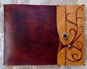 Leather Sketchbook, Refillable Sketchbook, Large, sketchbook cover - Tree  of Life, Warm Brown, Leather sketchbook , journal, album