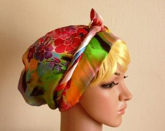 Satin Head Scarf , Headscarf, Hair Wrap, Head Wrap,Head Snood,Head Cover