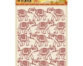 "ELEPHANTs MARCHING - ""Elephants on Parade"" EMBOSSING FOLDeR by SHEENa - -Rare  Item !! - A4 size"