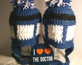 Doctor Who Inspired Tardis Newborn to Child Hat Beanie
